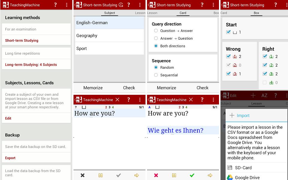 MM3-TeachingMachine - Vocabulary Builder full screenshot