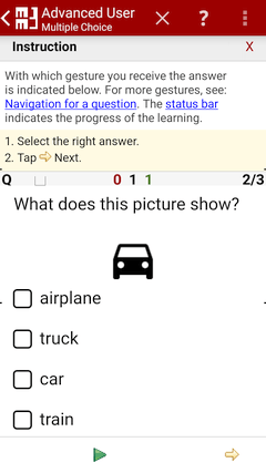 Question with Multiple-Choice - MM3-TeachingMachine - Flashcards / Vocabulary Builder